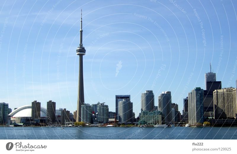 Toronto Town High-rise House (Residential Structure) Ontario CN Tower Beach Middle Concrete Millions North America Superlative Landmark Monument Might
