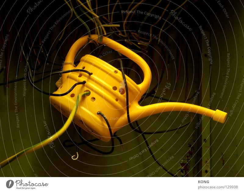 Relaxation Yellow Electricity Cable Communicate Catch Hollow Craft (trade) Hang Wire Captured Vessel Cast Online Jug
