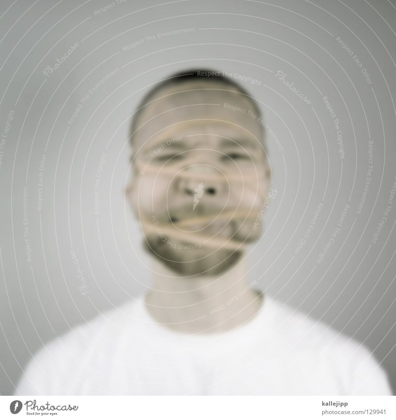 Human being Man Face Think Skin Nose String Creativity Net Idea Mask Wrinkles Illness Pain Facial hair Intoxicant