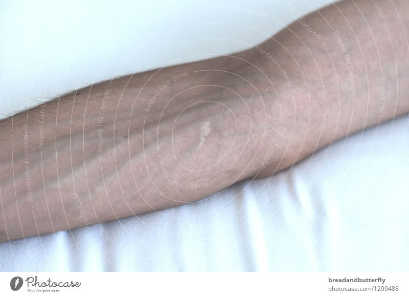 arm Human being Masculine Arm Vessel Authentic Thin Near Naked Colour photo Interior shot