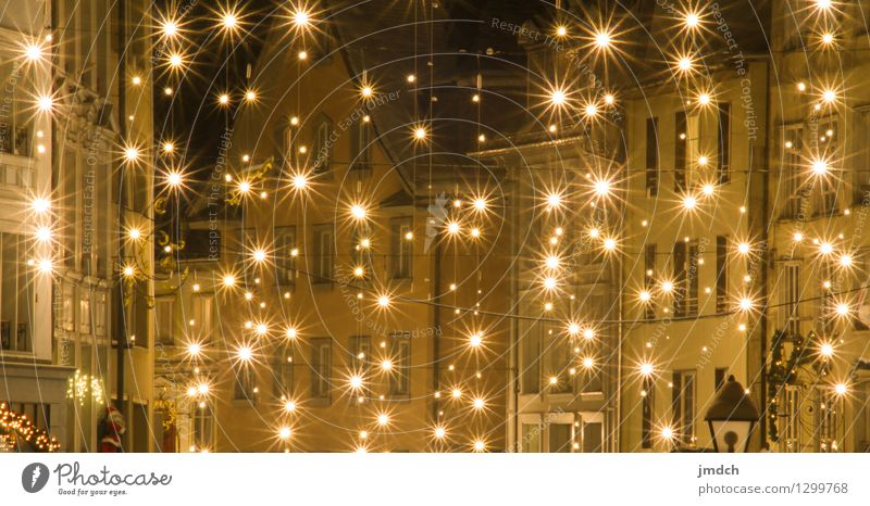 Stars on Earth Feasts & Celebrations Christmas & Advent New Year's Eve Christmas fairy lights Star cluster Snow Moody LED Lighting Winter Einsiedeln Old town