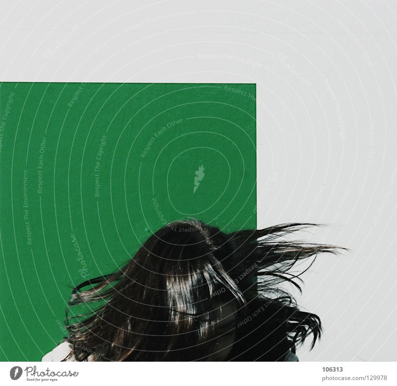 Woman White Green Joy Black Wall (building) Playing Freedom Hair and hairstyles Head Jump Style Funny Background picture Fear