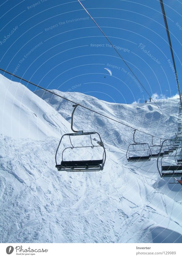 Sky White Beautiful Winter Cold Snow Empty France Blue sky Winter vacation Ski run Sky blue Snowcapped peak Chair lift Cloudless sky Ski resort