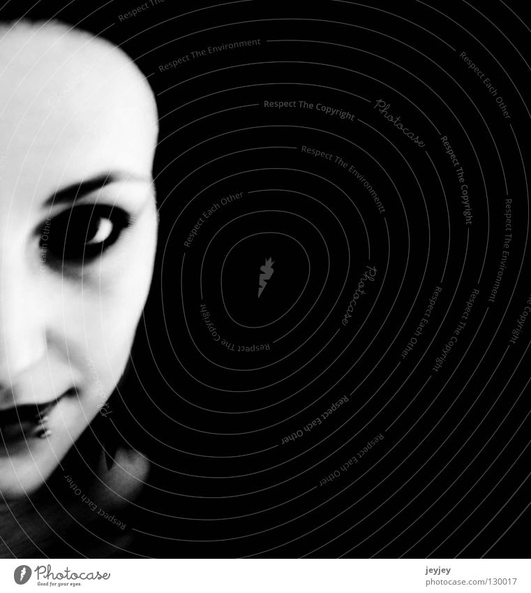 I like to split my mind Thought Indecisive Grinning Black & white photo Might Character Lost highway JokerFace Contrast trust