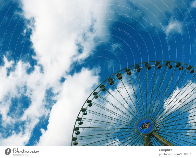 bike Fairs & Carnivals Clouds Summer Swing Chairoplane Seating Theme-park rides Driving Playground Places Round Joy Spring celebration Shows Oktoberfest