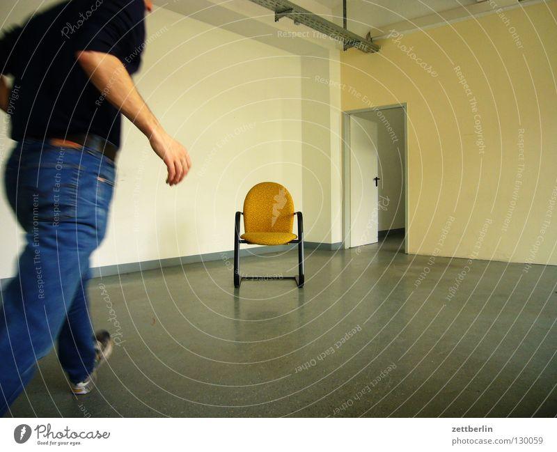 Human being Man Wall (building) Room Planning Arm Door Walking Speed Empty Places Open Chair Floor covering Target Furniture