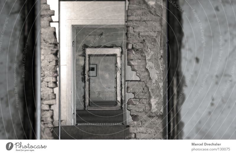 Old White Black Wall (building) Gray Stone Room Metal Fear Door Industry Factory Image Brick Historic Ruin