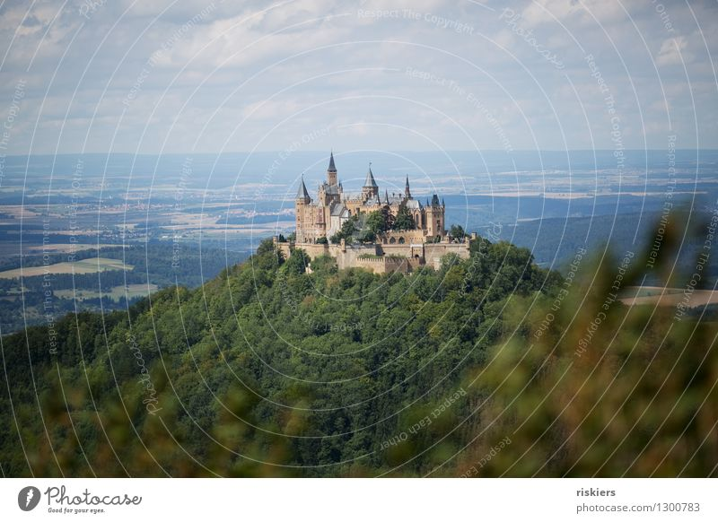 fairytale castle Environment Nature Landscape Summer Beautiful weather Forest Hill Mountain Castle Tourist Attraction Esthetic Gigantic Historic Tall Idyll