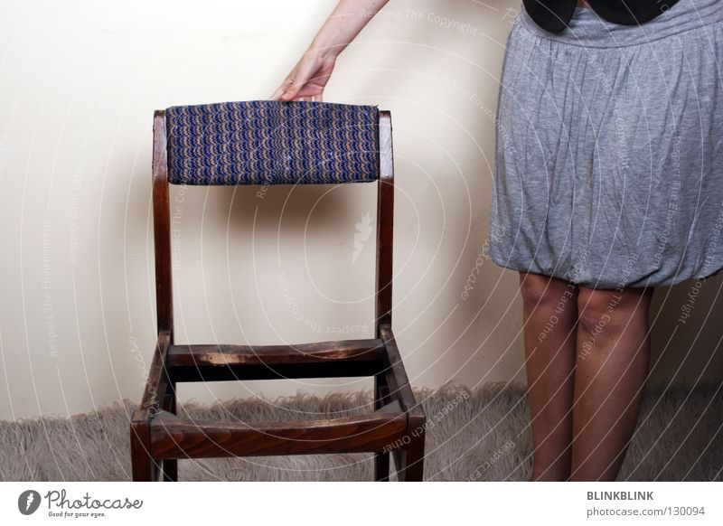 Woman Hand White Black Wall (building) Wood Gray Wall (barrier) Legs Brown Room Arm Clothing Stand Chair Touch