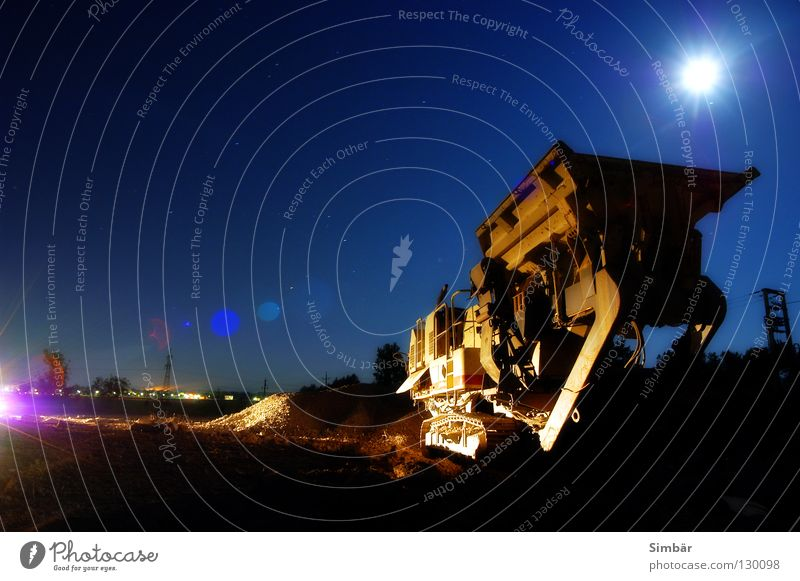 wreckage Calm Work and employment Construction site Industry Hammer Machinery Environment Earth Sky Moon Wall (barrier) Wall (building) Stone Concrete Metal