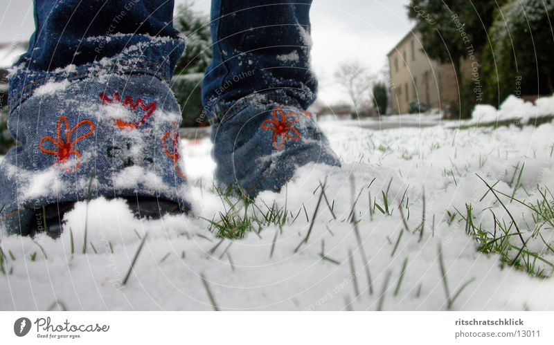 first snow Pants Grass Human being Snow Legs
