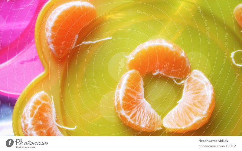 Nutrition Yellow Plate Fruit Tangerine