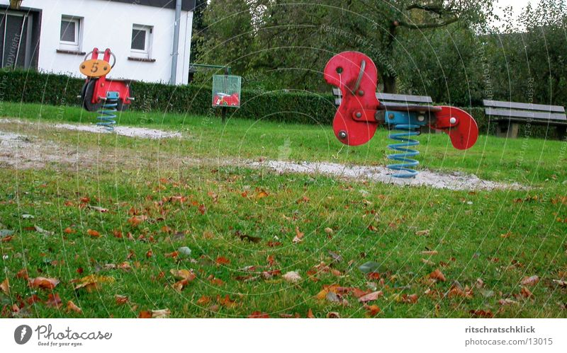 predominantly rainy Playground Meadow Sandpit Rocking horse Photographic technology Bench