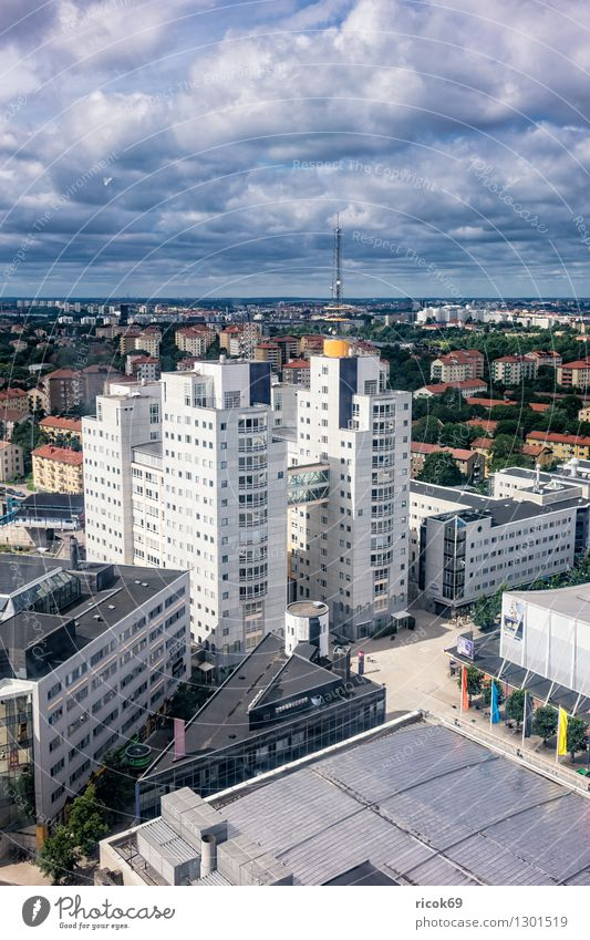 View of Stockholm Relaxation Vacation & Travel Tourism House (Residential Structure) Clouds Coast Town Capital city Building Architecture Tourist Attraction