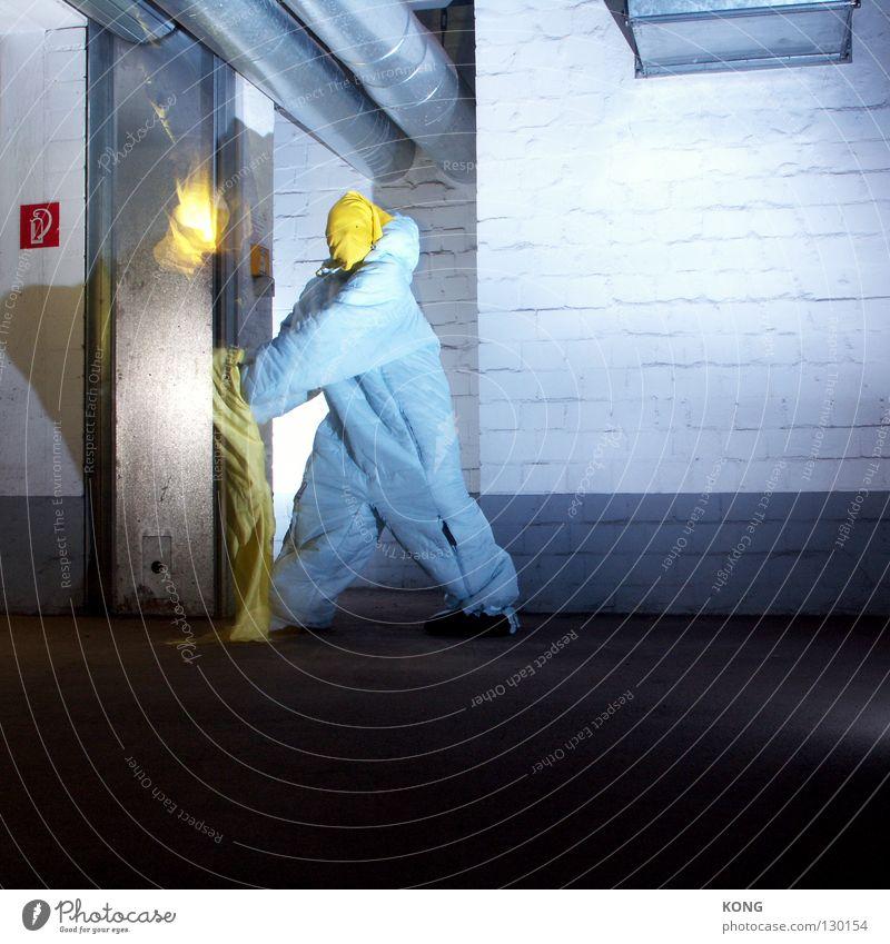 Yellow Gray Jump Flying Walking Blaze Speed Dangerous Aviation Technology Asphalt Mask Anger Pipe Suit Burn