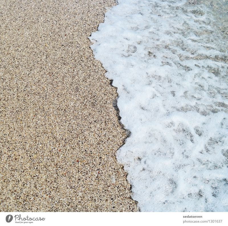 sea wave and sandy beach Nature Vacation & Travel Summer Relaxation Ocean Landscape Beach Yellow Natural Coast Sand Leisure and hobbies Tourism Gold Clean Hot