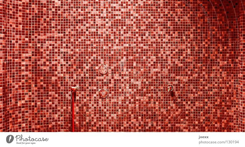 single pieces Aggression Blood Red Structures and shapes Mysterious Creepy Mosaic Pattern Pixel Square Hose Multiple Rectangle Wall (building) Tap Detail