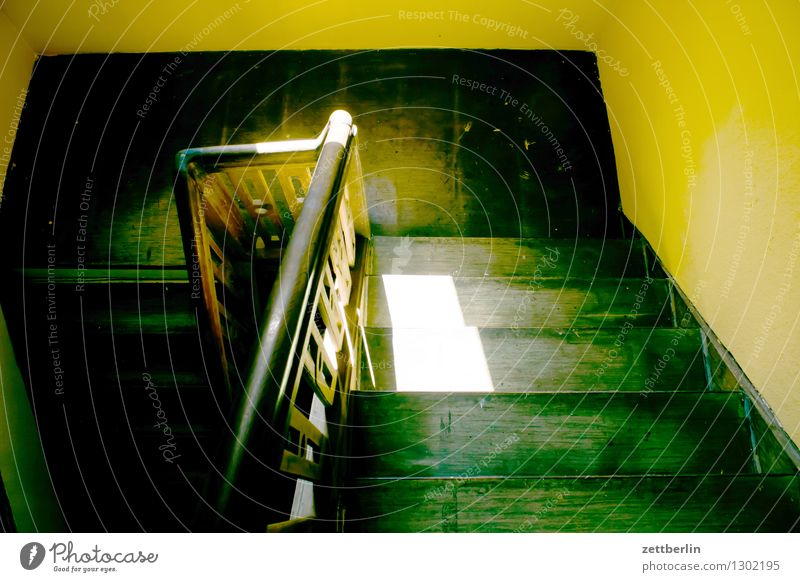 Sun House (Residential Structure) Dark Wall (building) Interior design Room Stairs Living or residing Level Mysterious Handrail Within Apartment Building