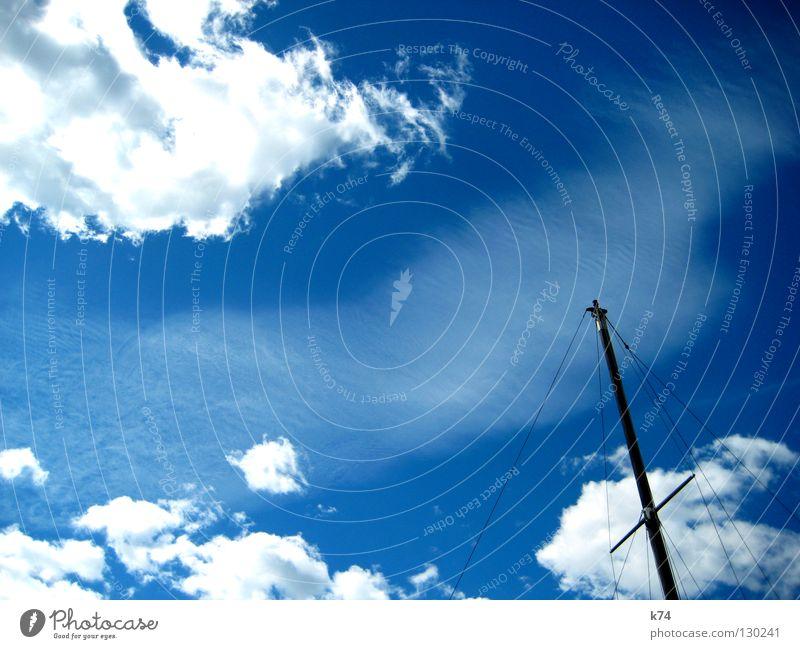 Sky Sun Blue Clouds Air Watercraft Wind Rope Back Navigation Electricity pylon Sail