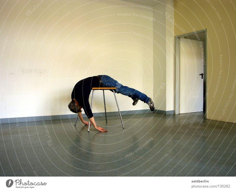 Man Relaxation Wall (building) Door Room Open Lie Table Sleep Corner Floor covering Break Obscure Hang Material Yoga