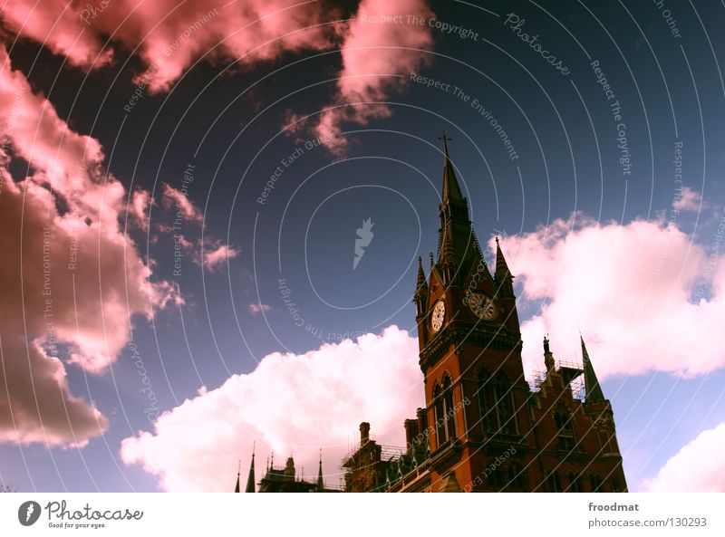 sunglasses Clouds Building Clock Time Pink Dark London Great Britain Sunglasses Dramatic Mysterious Historic Sky Surrealism Crazy Old Point Tower kings crispy