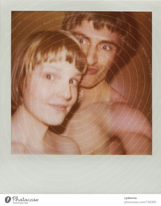 Woman Human being Man Joy Colour Life Emotions Polaroid Head Photography Wait Speed Perspective Retro Technology Analog