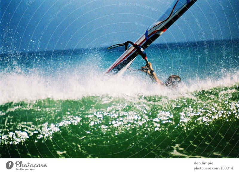 Ocean Waves Wind Analog Surfer Aquatics Fuerteventura Processed