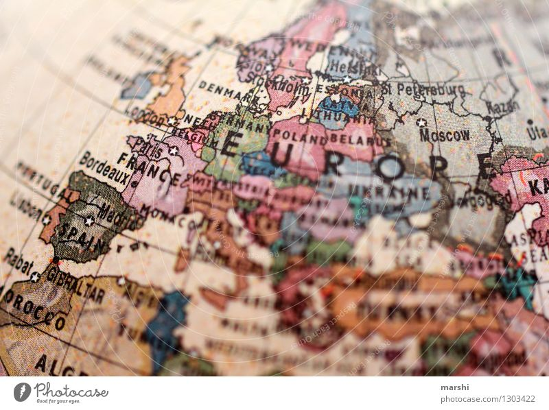 Europe Environment Climate Germany France Italy European European parliament European flag Populated Sign Signs and labeling Moody Playing card Map Globe