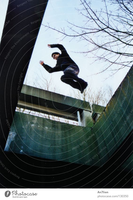 Jump Academic studies University & College student Barrier Effort Precision Parkour Bochum Extreme sports