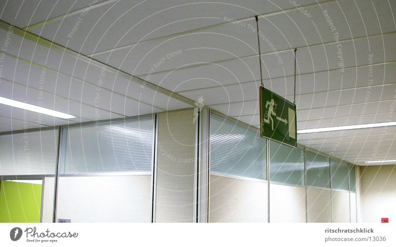 fork in the way Hallway Emergency exit Junction Photographic technology Signs and labeling
