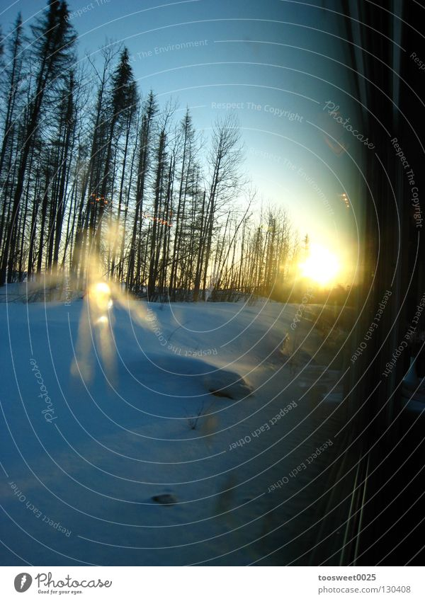 Winter Frost Canada Express train Celestial bodies and the universe