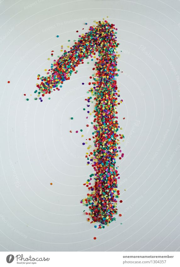 1 Art Esthetic Creativity Point Digits and numbers Many Work of art Confetti Home-made