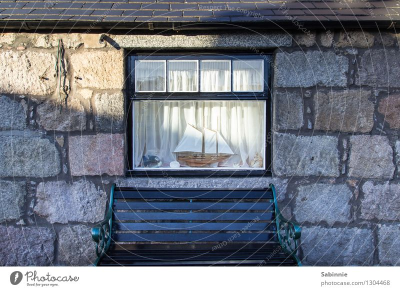 Relaxation Calm House (Residential Structure) Window Wall (building) Architecture Building Wall (barrier) Stone Facade Contentment Sit Manmade structures Bench