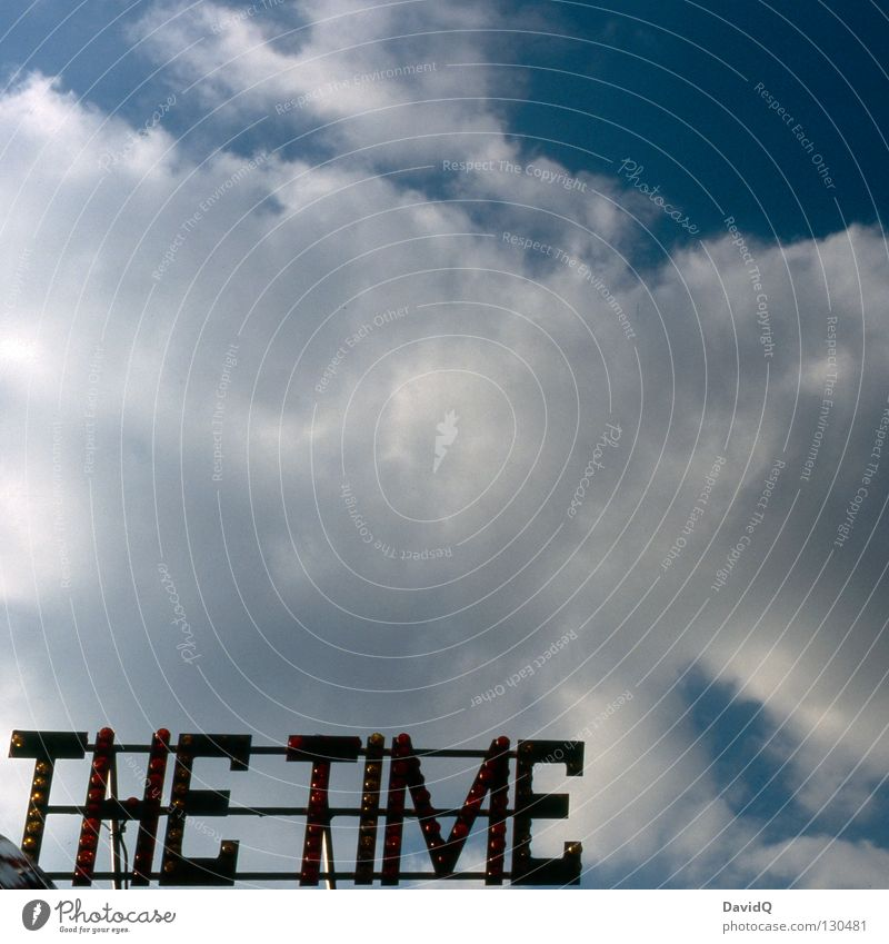 Sky Clouds Graffiti Time Future Lawn Characters Letters (alphabet) Transience Services Past Year Date Present Day