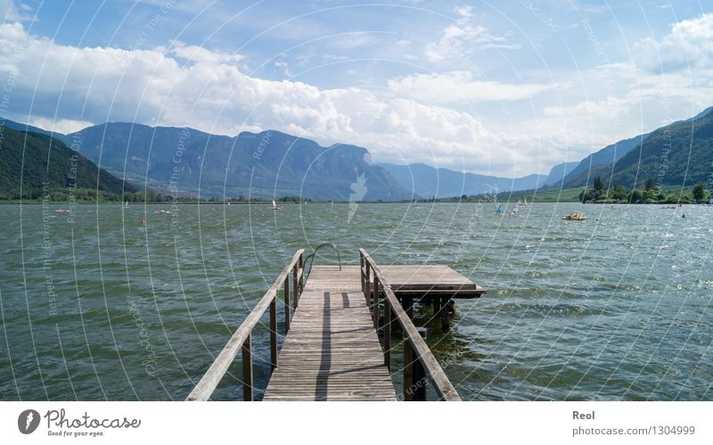 Lake Kaltern Vacation & Travel Tourism Trip Far-off places Summer vacation Sunbathing Waves Environment Nature Landscape Elements Water Sky Clouds