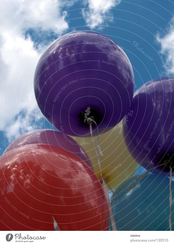Sky Blue Red Clouds Yellow Colour Flying Balloon Violet Sporting event Helium