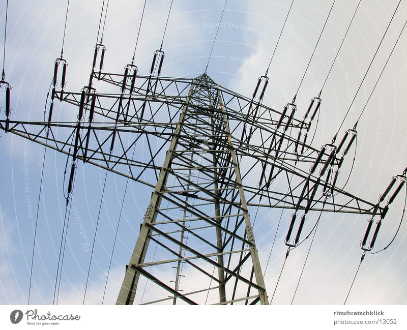 high voltage_02 Electricity Electricity pylon Electrical equipment Technology