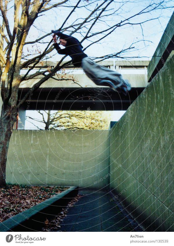 Saut de fond Parkour Barrier Jump Wall (barrier) Bochum Extreme sports Floor covering traceur Academic studies University & College student
