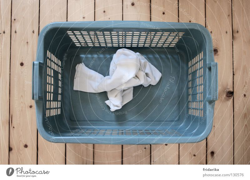 Washing day II Clothing Wood Dirty Wet Clean Dry Blue Gray White Pure Laundry Laundry basket Wooden floor Beige Household Floorboards Housekeeping