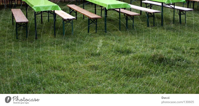 Green Summer Colour Loneliness Meadow Grass Garden Feasts & Celebrations Park Moody Leisure and hobbies Arrangement Empty Table Bench Lawn