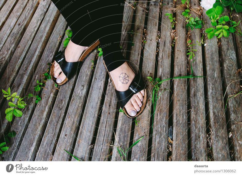 happy feet Vacation & Travel Plant Relaxation Leaf Joy Warmth Life Grass Feminine Style Playing Legs Freedom Lifestyle Moody Feet
