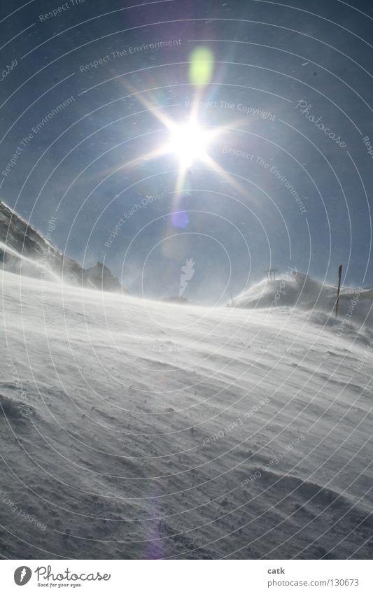 Sky Nature Sun Winter Mountain Snow Snowfall Glittering Ice Peak Frost Alps Snowcapped peak Ski resort Mountaineering Austria