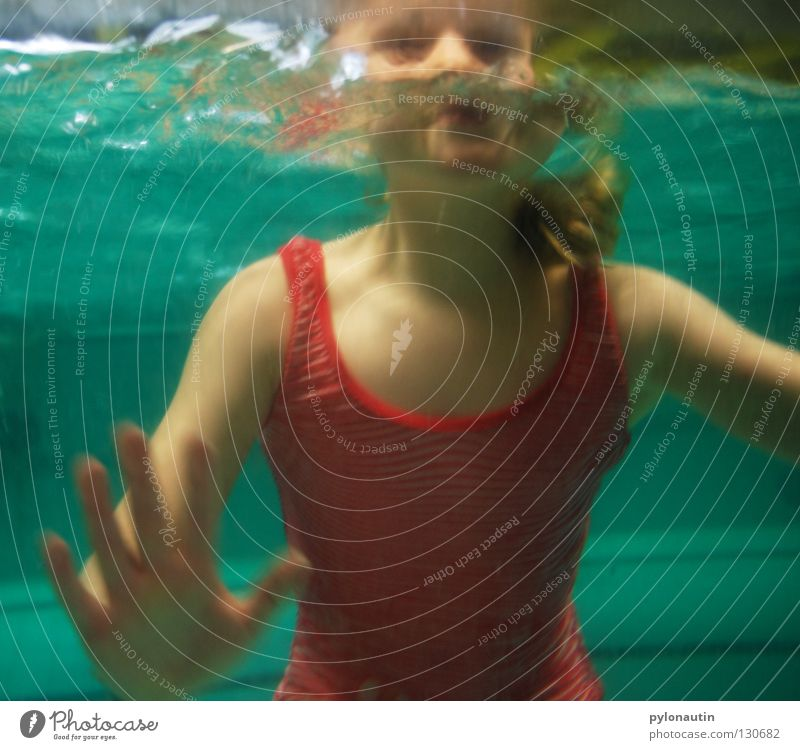 Badenixe the Other Swimming pool Dive Turquoise Hand Upper body Drown Air Ocean Vacation & Travel Nixie (Water Spirit) Lake Shoulder Girl Swimsuit Joint Breathe