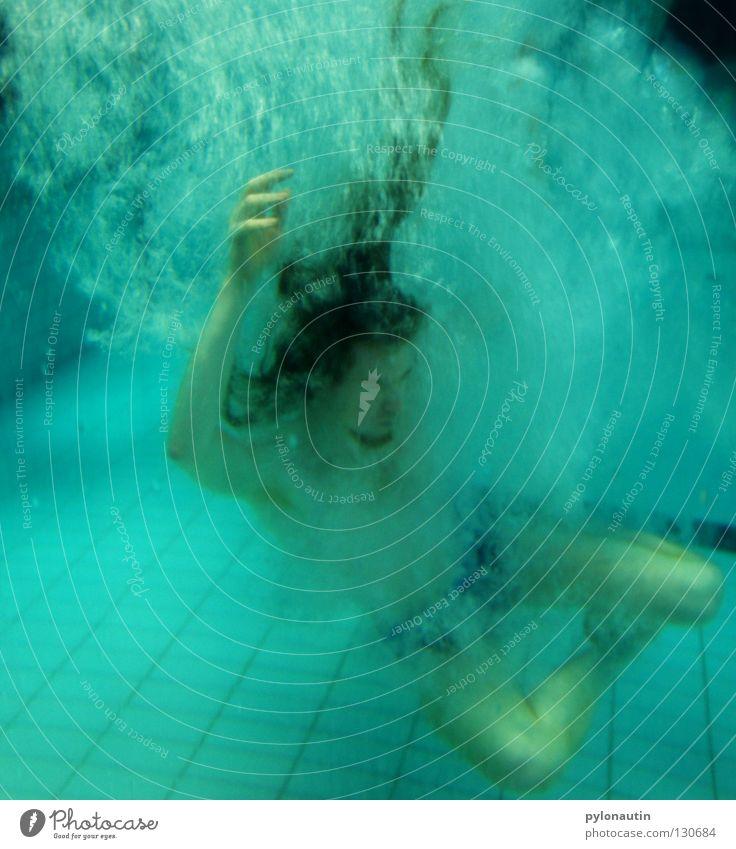 neptunfish Swimming pool Dive Turquoise Hand Upper body Drown Air Ocean Vacation & Travel Nixie (Water Spirit) Lake Red Shoulder God of the sea Aquatics