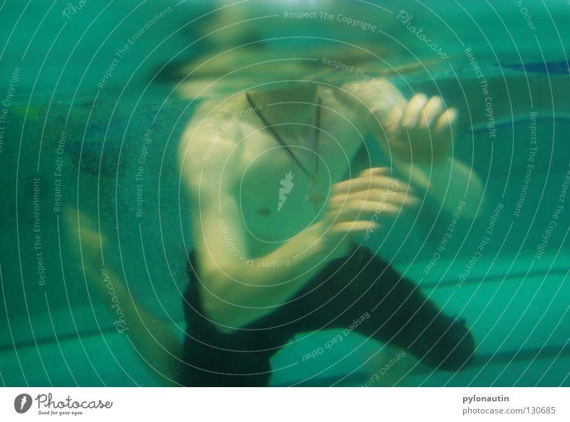headless float Swimming pool Dive Turquoise Hand Upper body Drown Air Ocean Vacation & Travel Nixie (Water Spirit) Lake Red Shoulder Aquatics Underwater photo