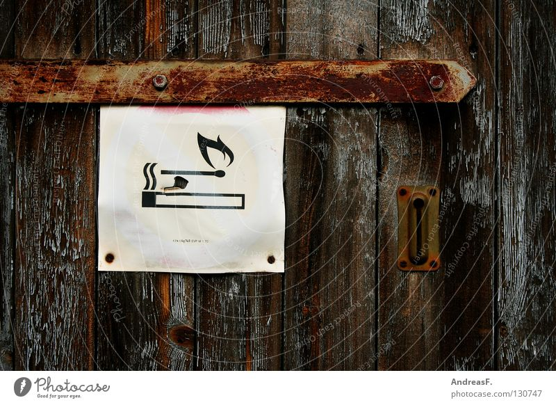 Wood Signs and labeling Blaze Signage Safety Symbols and metaphors Smoking Gastronomy Club Smoke Burn Cigarette Bans Match Fire department Insurance