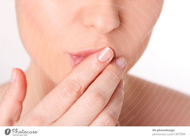 Lips care of a young woman Wellness Senses Relaxation Young woman Youth (Young adults) Woman Adults Skin Mouth Fingers 1 Human being 30 - 45 years Fresh Healthy