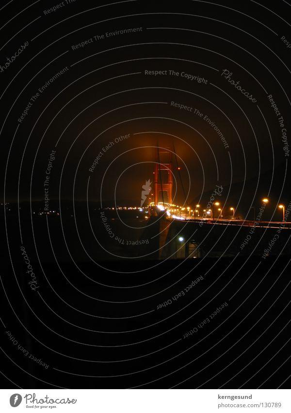 Dark Fog Bridge California San Francisco Golden Gate Bridge