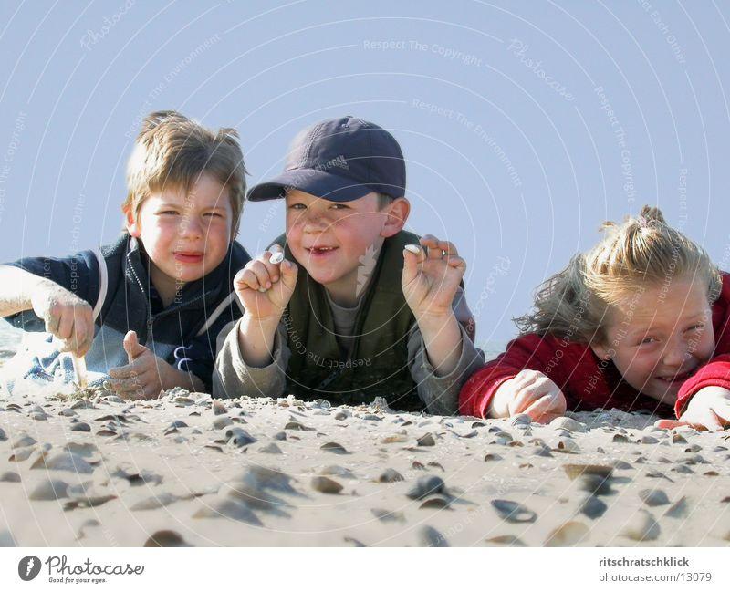 strandkids Child Beach Mussel Human being Sky Blue Sand