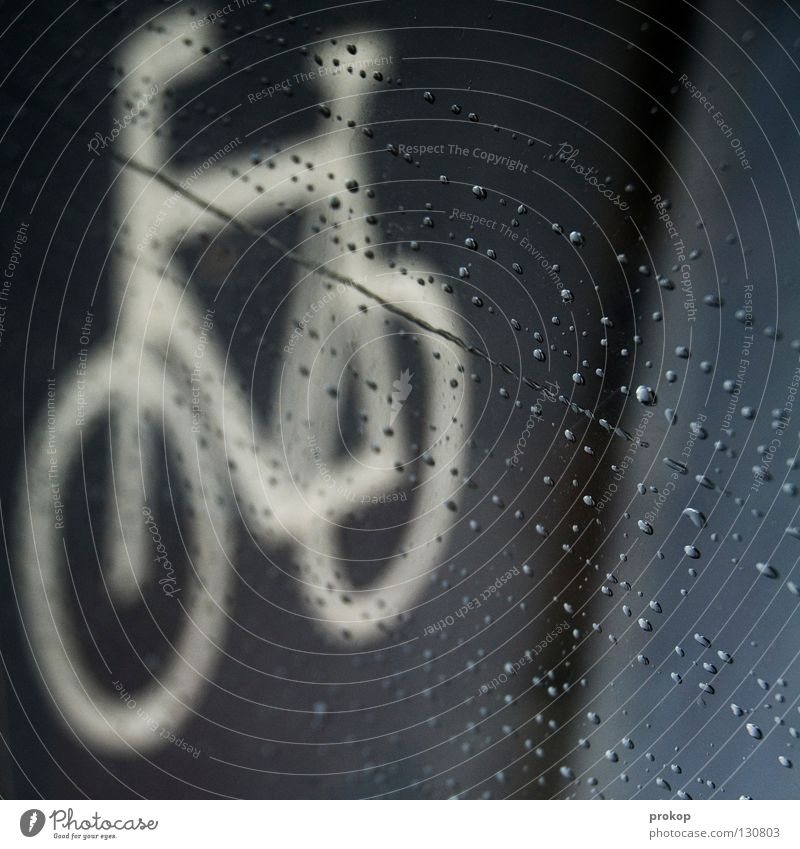 No bad weather... Driving Cycle path Damp Rain Bad weather Vacation & Travel Transport Clothing Gray Grief Puddle Wet Storm Funsport Distress Bicycle Sign